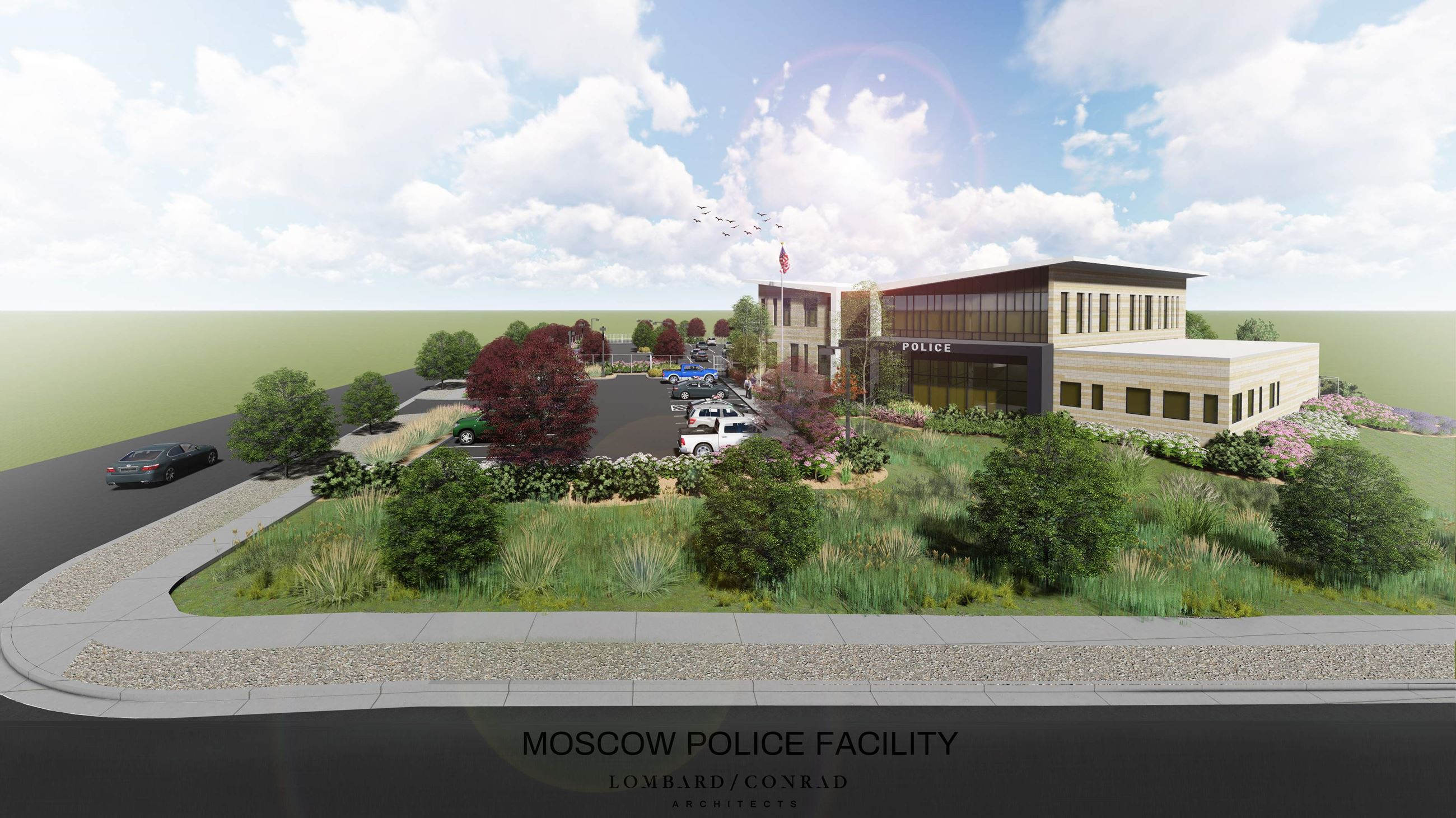 New Police Facility Concept Design Rendering