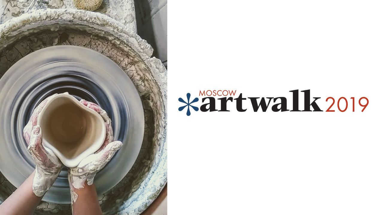 Artwalk 2019 photo of pottery