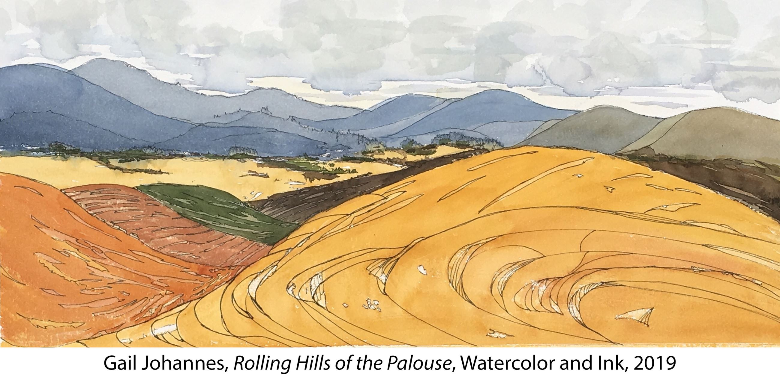 Image of the 1st place Palouse Plein Air 2019 artwork by artist Gail Johannes