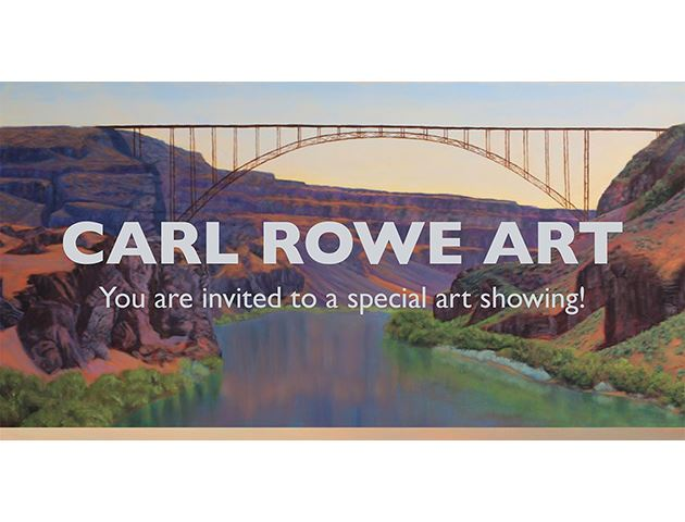 "Promotional image for ""Landscape Paintings by Carl Rowe"""