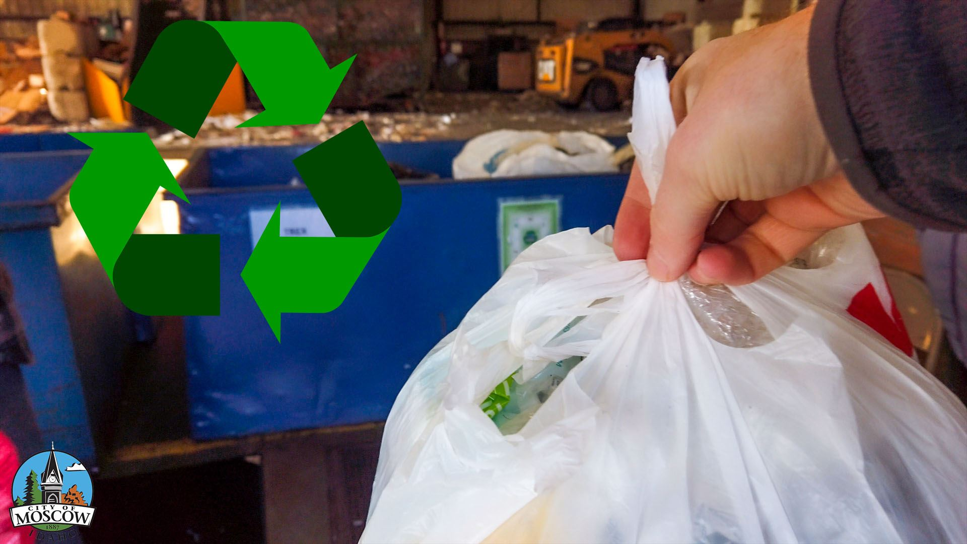 Recycling plastic bags at Moscow Recycling