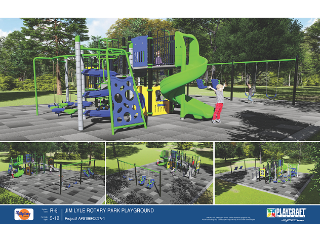 Rotary Park Playground Equipment Concept