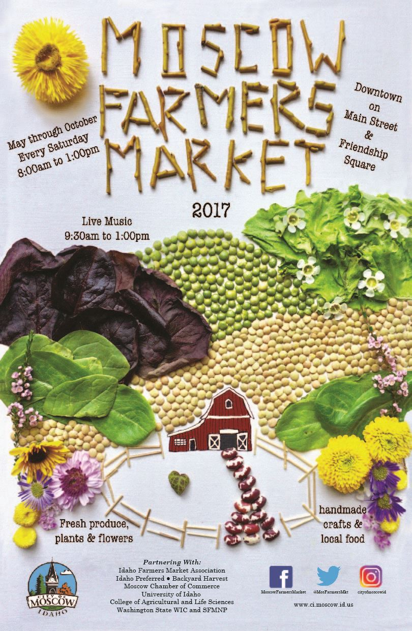 2017 Moscow Farmers Market Poster