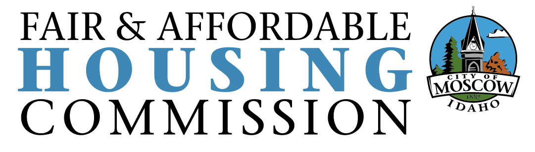 Fair and Affordable Housing Commission logo - Blue