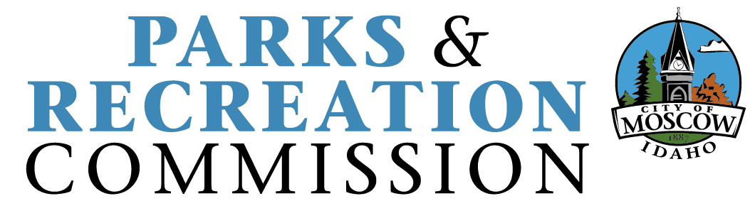 Parks and Recreation Commission logo - Blue