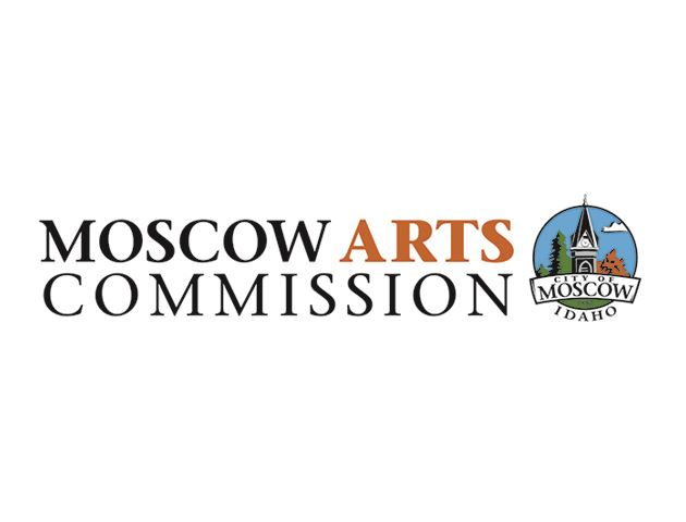 Logo with the text Moscow Arts Commission and City of Moscow